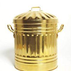 thùng rác mạ vàng 1